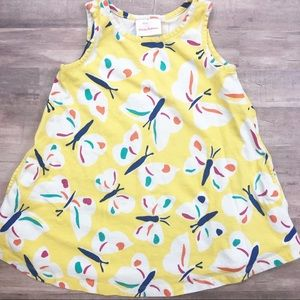 HANNA ANDERSSON size 90 butterfly yellow sundress